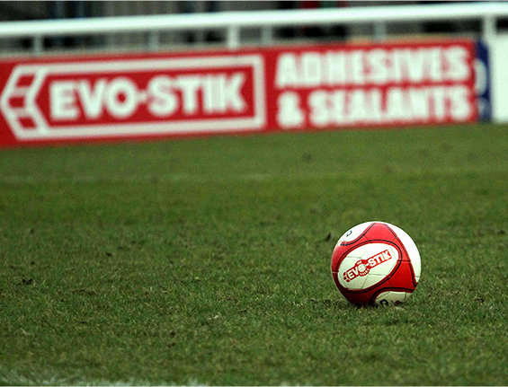Soccer ball for Evo-Stik league sponsorship