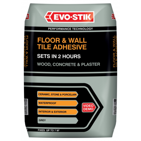 Evo Stikfloor And Wall Tile Adhesive Fast Set For Wood Concrete
