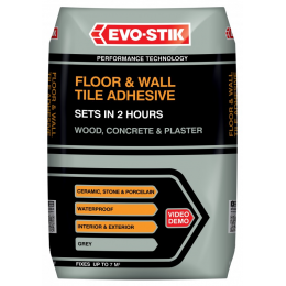 Floor & wall tile adhesive fast set for wood, concrete & plaster